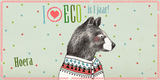 I ♥ Eco blaast één kaarsje uit!