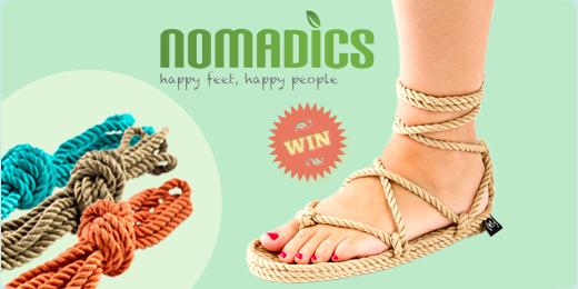 Win een paar lentefrisse Nomadics sandalen!