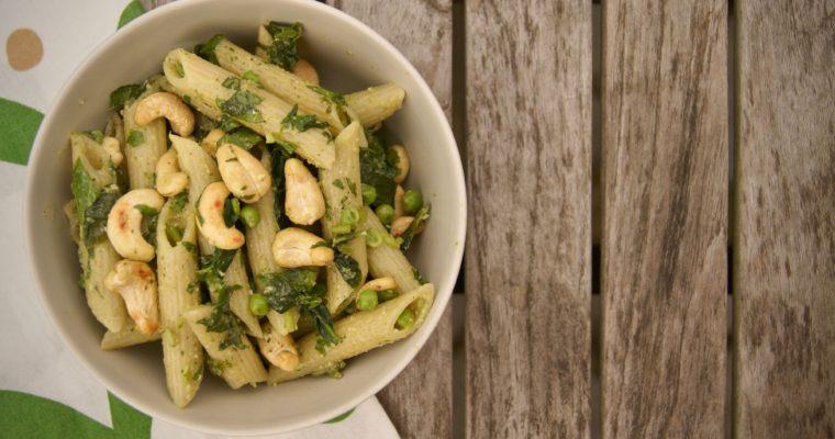 Proef de lente op je bord: pasta met erwtjes en spinazie