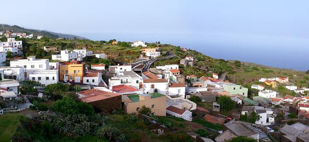 El Hierro, eiland op water en wind
