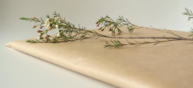 Inpakken met natuurlijke materialen
