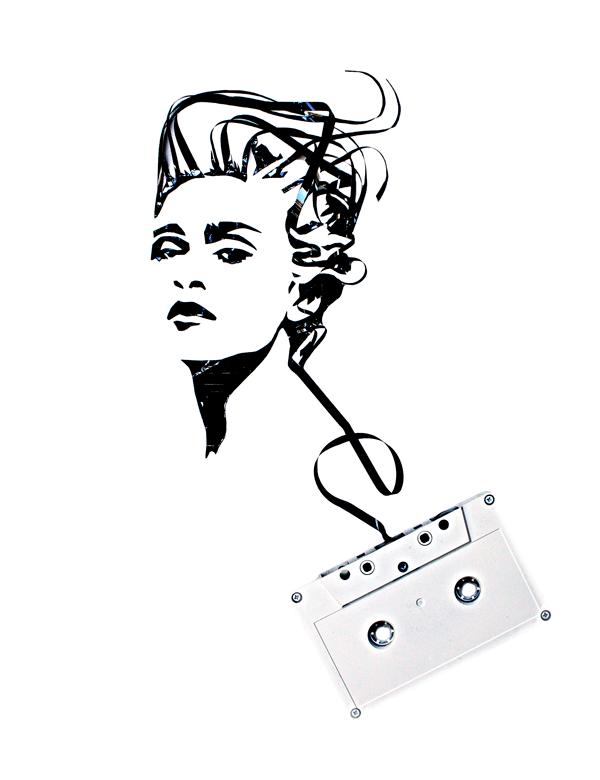 I love eco blog, recycle art, Tape art, Erika Simmons