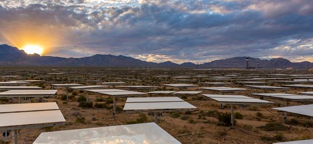 Zonne-energie op z'n strafst in Californië