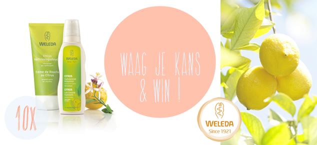 Win een heerlijk douchepakket van Weleda!