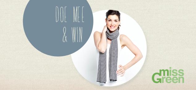 Win een tijdloos sjaaltje van Miss Green via onze splinternieuwe Facebook-app!