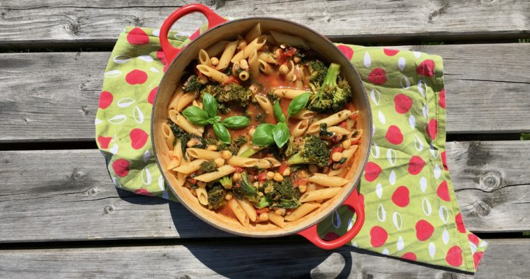 Recept: one pot superpasta (100% bio)
