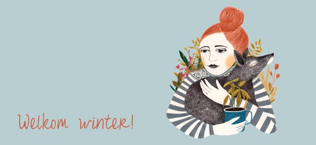 Lieke van der Vorst illustreert onze win-app tijdens de winter