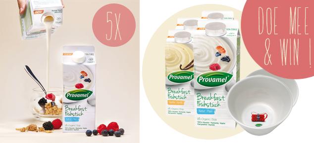 Win een ontbijtpakket van Provamel!