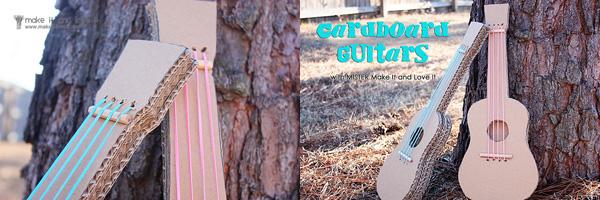 gitaar van karton maken