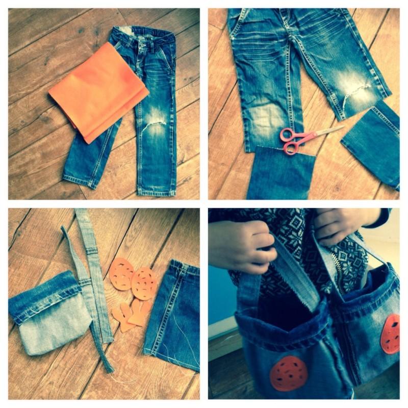 DIY Paastas van oude spijkerbroek. Wat kan je doen met een oude spijkerbroek? Upcycle je kapotte spijkerbroek