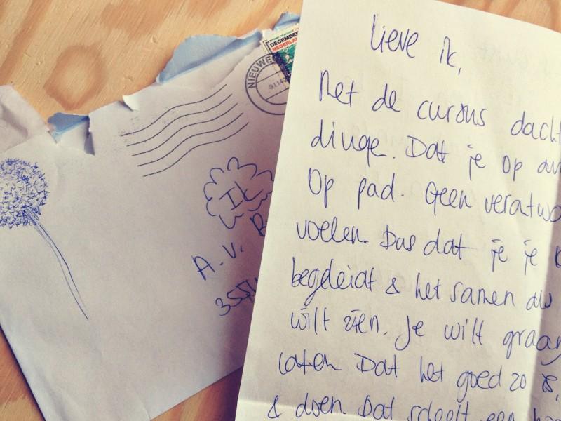 Mindful schrijven, brief aan mezelf op Ecolicious Blog, Cursus mindfulness