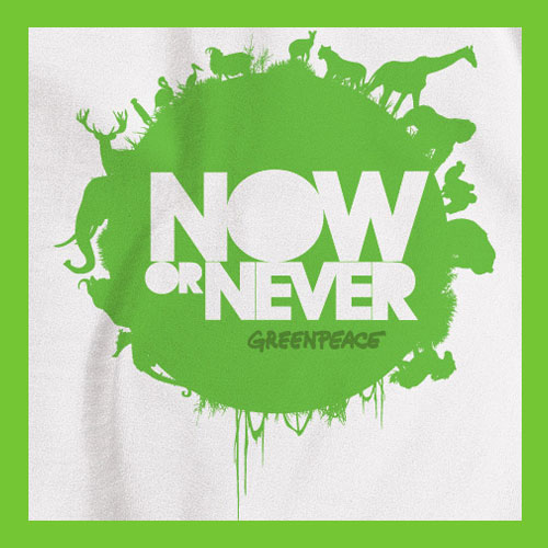 Greenpeace limited edition T-shirts