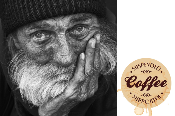 suspended coffee, uitgestelde koffie, homeless, coffee, I love eco blog