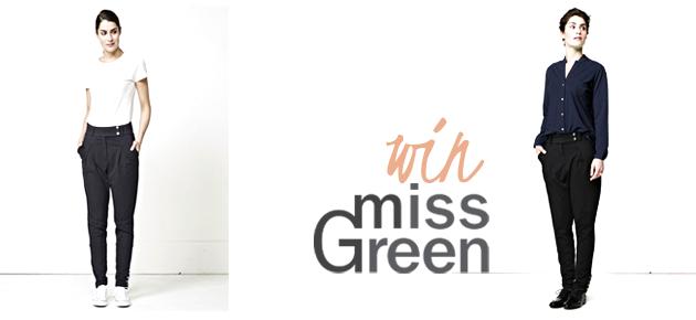 Win 1 van de 2 Ali broeken van Miss Green!