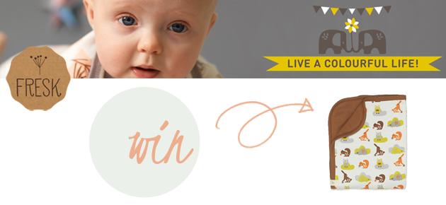 Win 1 van de 2 biologische babydekentjes van Fresk!