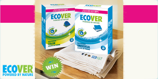 Win het vernieuwde waspoeder van Ecover!