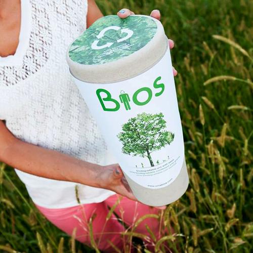 Recycleer leven met een urne van Bios