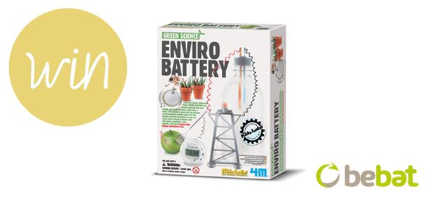 Win een Enviro Battery dankzij Bebat!