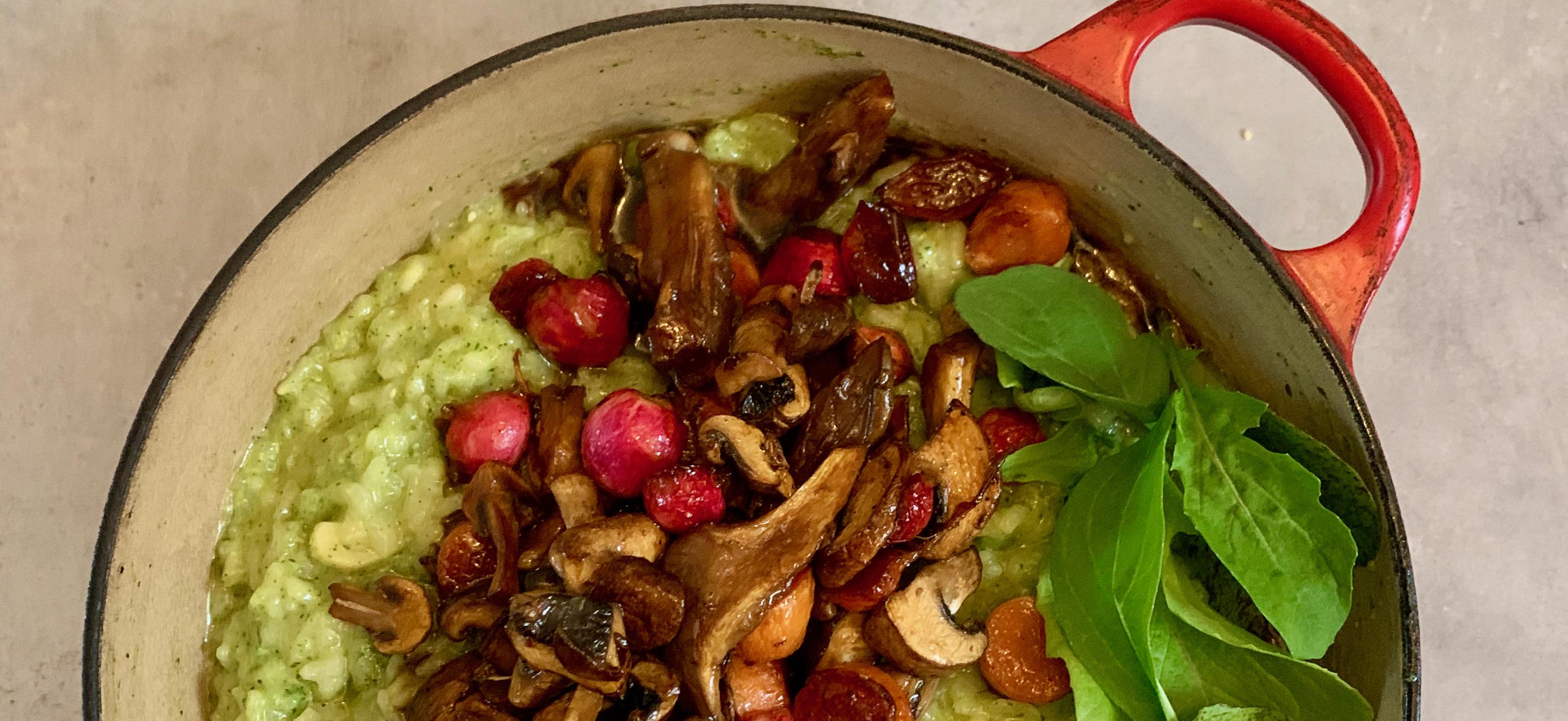 Recept: lentepotje met risotto en gebakken groenten