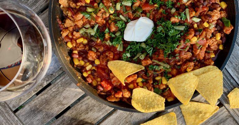 Recept: chili sin carne met nacho's