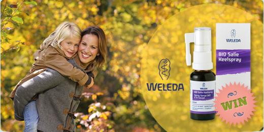 Win een bio Salie Keelspray van Weleda!