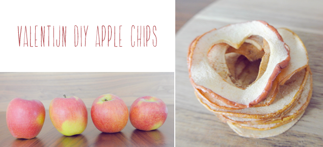 Made with love: Valentine Apple Chips