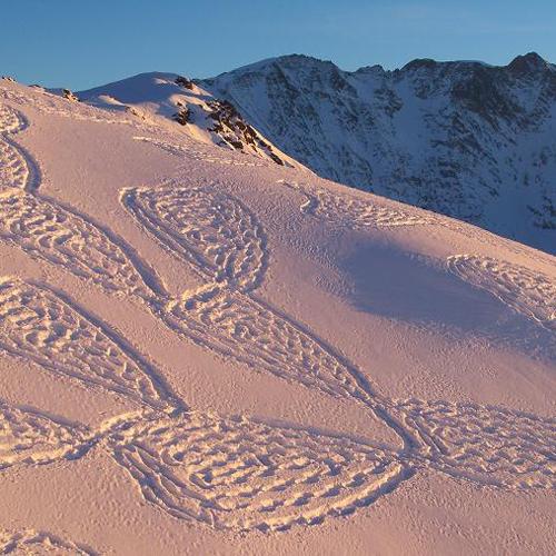 Geïnspireerd door Snow Art by Simon Beck
