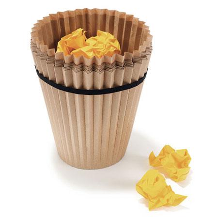 Recycleerbaar papieren prullenbakje